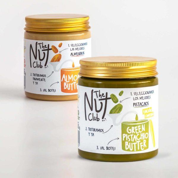 pack de cremas de frutos secos con pistacho | The Nut Club